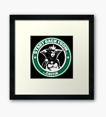 Snow White Evil Queen Starbucks Logo Parody Framed Print