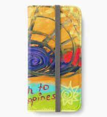 My Path to Happiness iPhone Flip-Case/Hülle/Skin