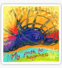 My Path to Happiness Sticker