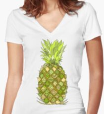 Pineapple! Women's Fitted V-Neck T-Shirt
