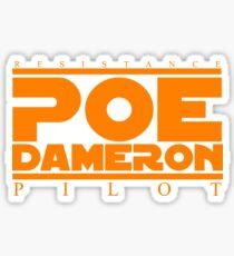 poe dameron; the best resistance pilot Sticker