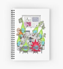 Brain Cell Lab Meeting Spiral Notebook