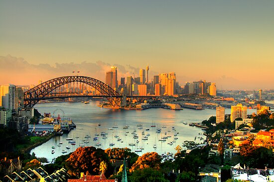 Magical Morn -Moods Of A City # 26 - The HDR Series , Sydney Australia by Philip Johnson
