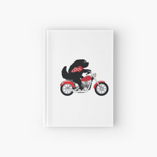 Just a Newfie Riding a Motorcycle Hardcover Journal