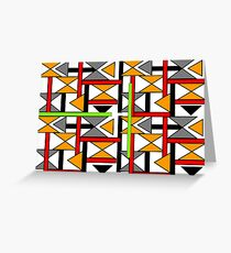 Bright Bold Modern Funky Geometric Abstract Graphic Greeting Card