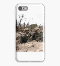 Marines resting at Peleliu iPhone Case/Skin