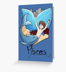 """Pisces among the stars - series of T-shirts """"Polaris"""" Greeting Card"""