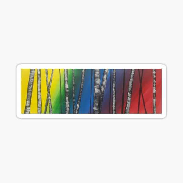 Birch rainbow Sticker