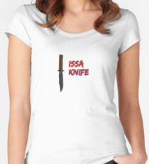 """21 Savage """"Issa Knife"""" Women's Fitted Scoop T-Shirt"""