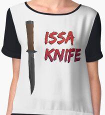 """21 Savage """"Issa Knife"""" Chiffon Top"""