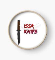 """21 Savage """"Issa Knife"""" Clock"""