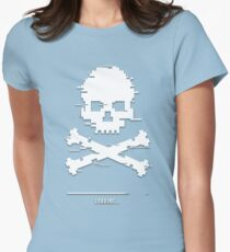 Game over loading glitch 8bit Womens Fitted T-Shirt