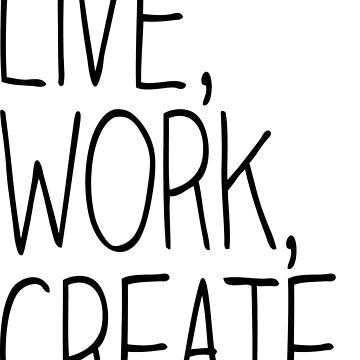 Live, Work, Create. by marissaleighxo