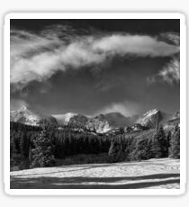 Rocky Mountain Park in Black and White by Lena Owens Sticker
