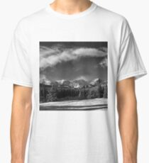 Rocky Mountain Park in Black and White by Lena Owens Classic T-Shirt