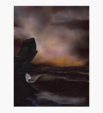 A Stormy Ocean Photographic Print