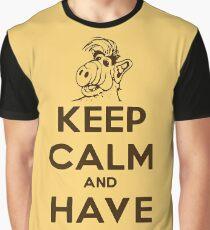 Keep Calm Cat Graphic T-Shirt