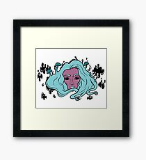 Blue mushrooms Framed Print