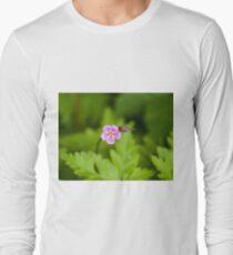 Herb Robert Wild Flower Long Sleeve T-Shirt