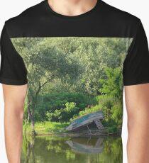 Boat at Virpazar  Graphic T-Shirt