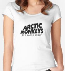 Arctic Monkeys- Do I Wanna Know? Women's Fitted Scoop T-Shirt