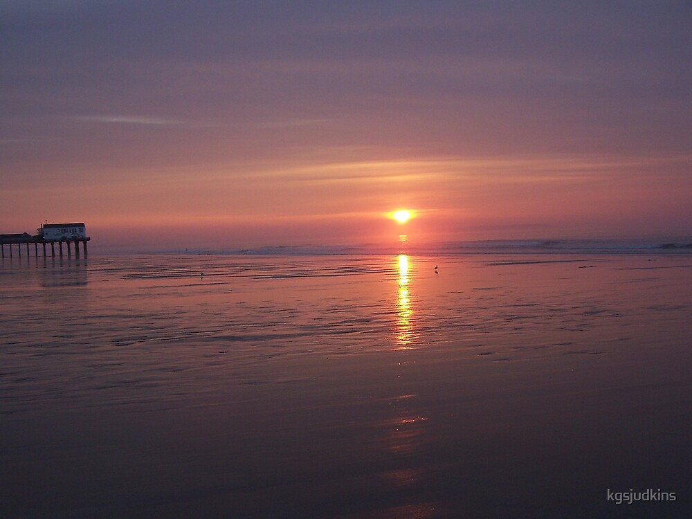 Sunset in Old Orchard Beach Maine by kgsjudkins