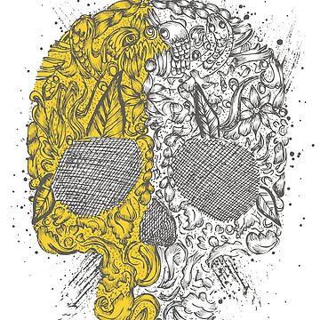Gold Skull by Brotoloncar