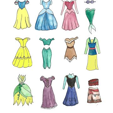 Princess Dresses by miserablemagic
