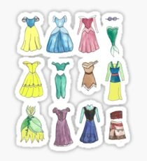 Princess Dresses Sticker