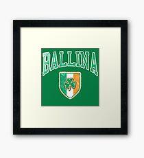 Ballina, Ireland with Shamrock Framed Print