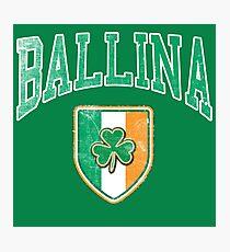 Ballina, Ireland with Shamrock Photographic Print
