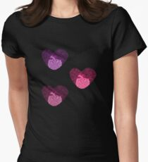 Three Hearts Womens Fitted T-Shirt