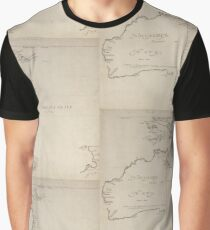 Hollandia Nova detecta 1644, antique map Graphic T-Shirt