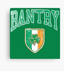 Bantry, Ireland with Shamrock Canvas Print