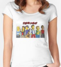 Fresh Meat - Simpsons Style! Women's Fitted Scoop T-Shirt