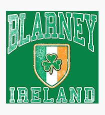 Blarney, Ireland with Shamrock Photographic Print