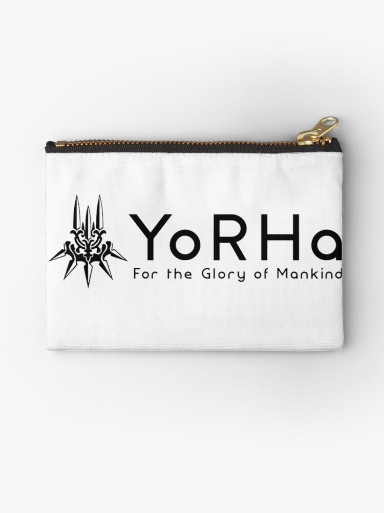 Yorha For Glory Of Mankind With Symbol Logo Studio Pouches By