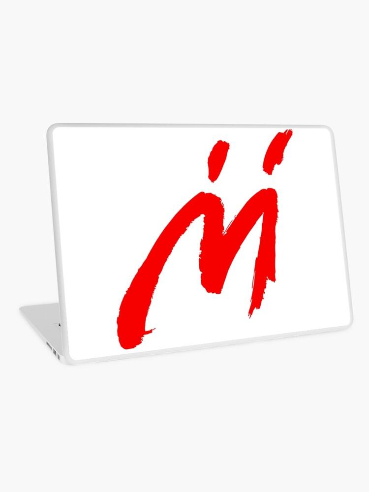 Super Mario Sunshine Shadow Mario M Logo (white background) | Laptop Skin