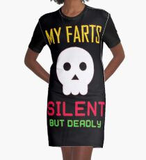 My Farts - Silent But Deadly Graphic T-Shirt Dress