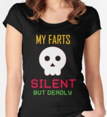 My Farts - Silent But Deadly Women's Fitted Scoop T-Shirt