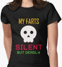 My Farts - Silent But Deadly Women's Fitted T-Shirt