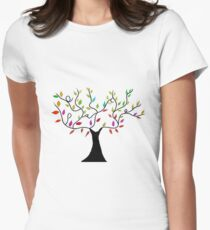 Peace Tree Womens Fitted T-Shirt