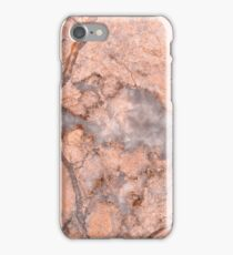 Red Marble with white Artery iPhone Case/Skin
