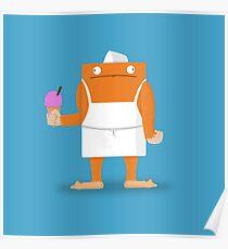 Ice Cream Vendor - Everyday Monsters Poster