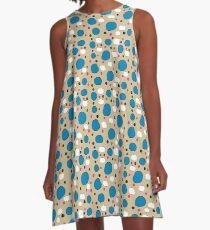 Watercolor Blobbies on Tan A-Line Dress