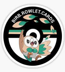 birb.rowlet.cards logo Sticker