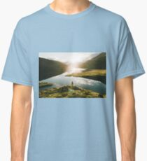 Switzerland Mountain Lake Sunrise - Landscape Photography Classic T-Shirt