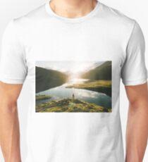Switzerland Mountain Lake Sunrise - Landscape Photography T-Shirt