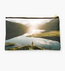 Switzerland Mountain Lake Sunrise - Landscape Photography Studio Pouch