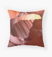 Antelope slot canyon view Throw Pillow